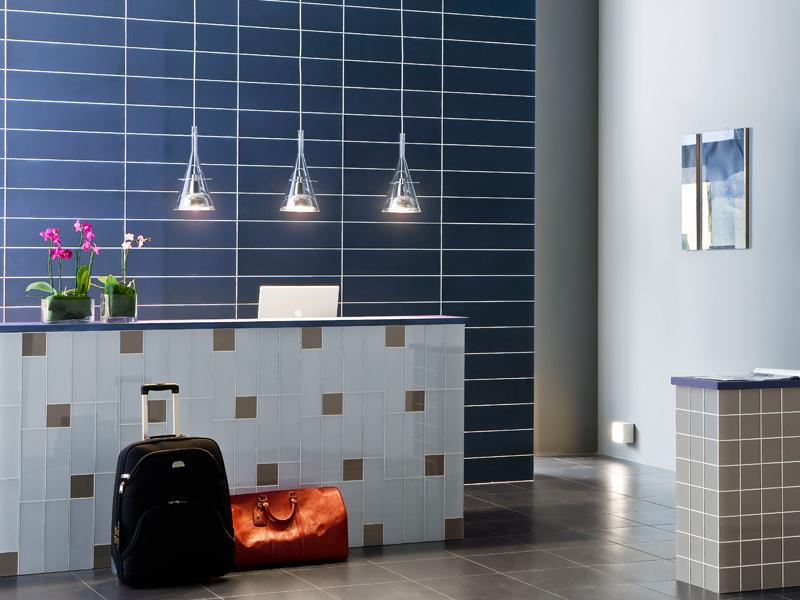 navy blue tile and design