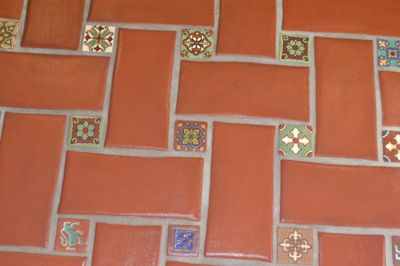 terracotta style stone and tile design